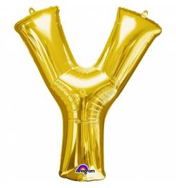 XXL balon črka Y, zlata 86 cm