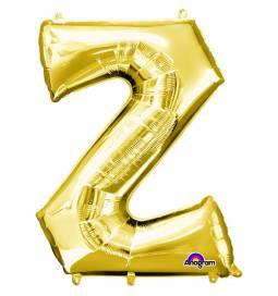 XXL balon črka Z zlata 86 cm