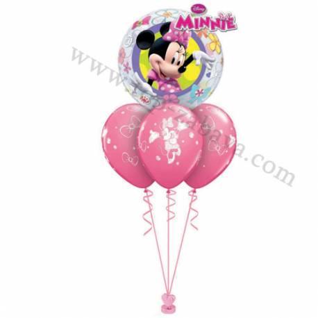 Dekoracija iz balonov Minnie Mouse