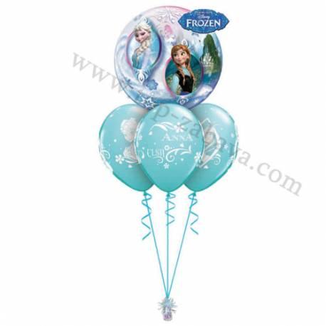 Dekoracija iz balonov Ledeno kraljestvo
