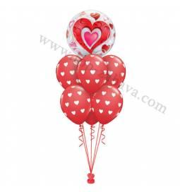 Poročna balonska dekoracija Srca