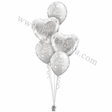 Poročna balonska dekoracija Mr & Mrs 1
