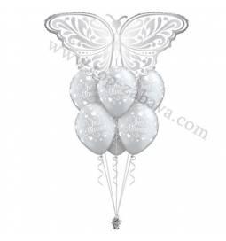 Poročna balonska dekoracija Metulj