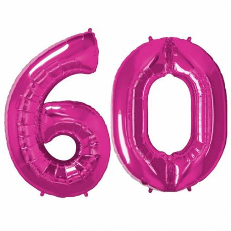 XXL balona številka 60, magenta