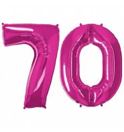 XXL balona številka 70,  magenta