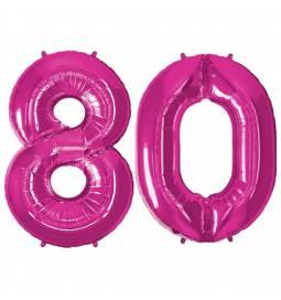 XXL balona številka 80,  magenta