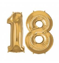 XXL balona številka 18, zlata