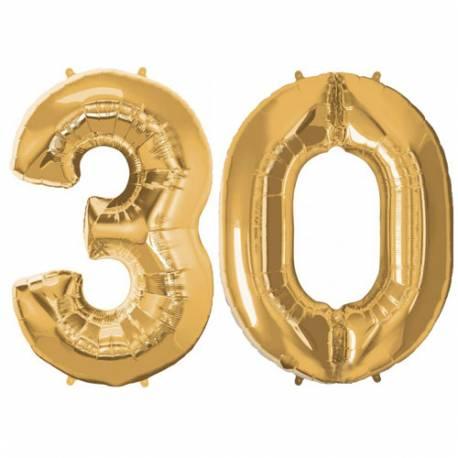 XXL balona številka 30, zlata