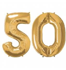 XXL balona številka 50, zlata