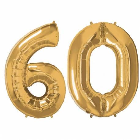 XXL balona številka 60, zlata
