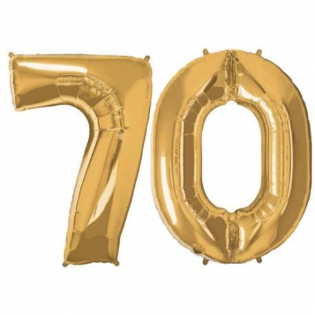 XXL balona številka 70, zlata