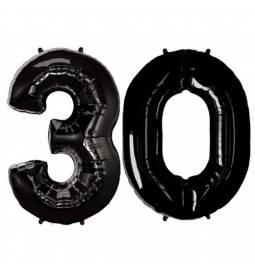 XXL balona številka 30, črna
