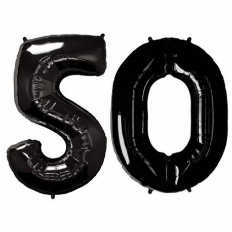 XXL balona številka 50, črna