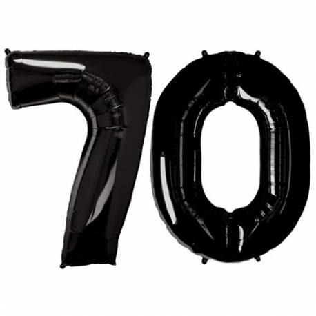 XXL balona številka 70, črna
