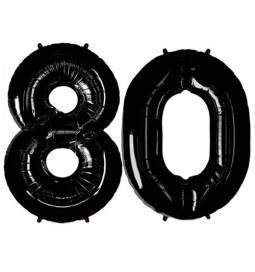 XXL balona številka 80, črna