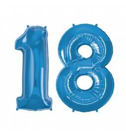 XXL balona številka 18, modra
