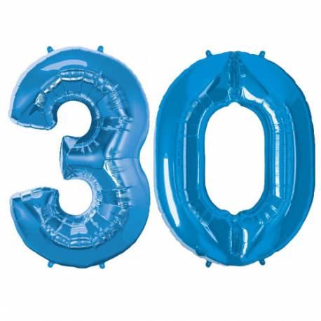 XXL balona številka 30, modra