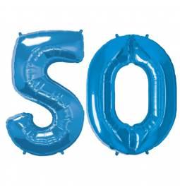 XXL balona številka 50, modra