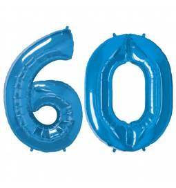 XXL balona številka 60, modra