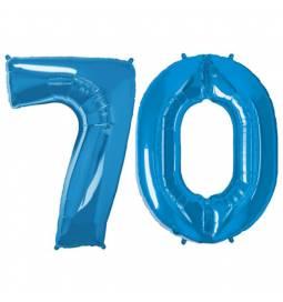 XXL balona številka 70, modra