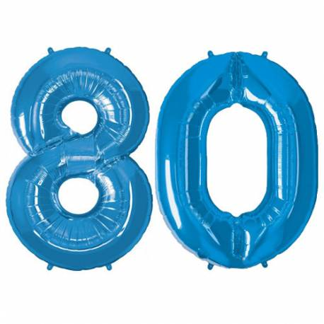 XXL balona številka 80, modra