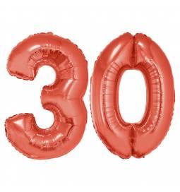 XXL balona številka 30, rdeča