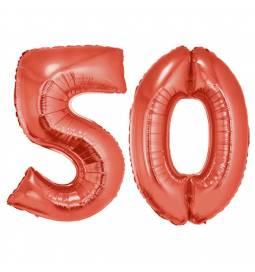 XXL balona številka 50, rdeči