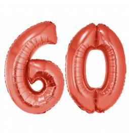 XXL balona številka 60, rdeča