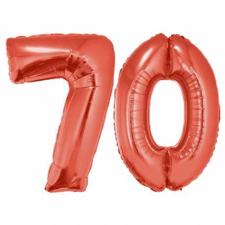 XXL balona številka 70, rdeča