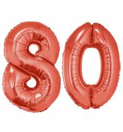 XXL balona številka 80, rdeča