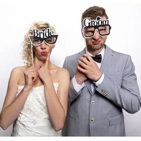 Očala na palčkah Bride & Groom