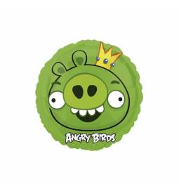 Folija balon Angry Birds, zelen