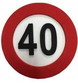 Dekoracija Prometni znak 40