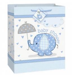 Modra darilna vrečka za Baby Shower