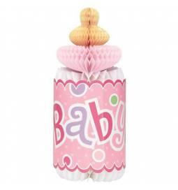 Namizna dekoracija Pink steklenička