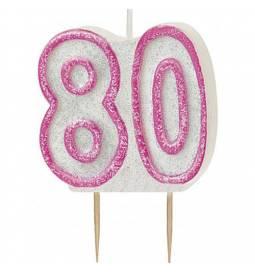 Svečka za 80. rojstni dan, Pink z bleščicami