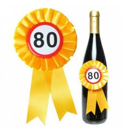 Roseta za steklenico, 80 rojstni dan