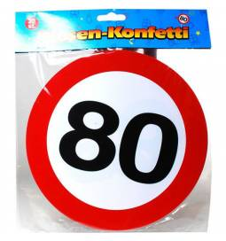 XXL konfeti za 80 rojstni dan, Stop znak