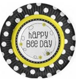 Krožniki Pridne čebelice Happy Bee, 18 cm