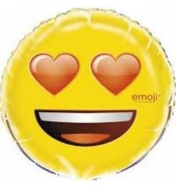Folija balon Emoji, Srčki
