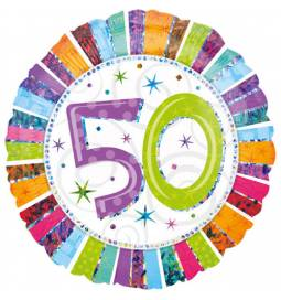 Folija balon 50 let, Radiant Birthday