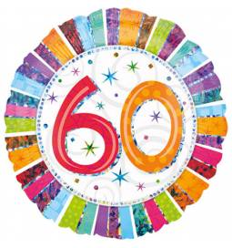 Folija balon 60 let, Radiant Birthday
