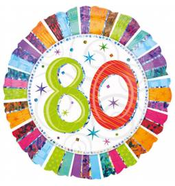 Folija balon 80 let, Radiant Birthday