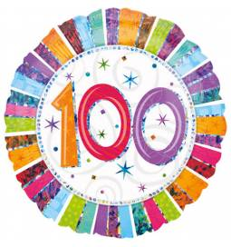 Folija balon 100 let, Radiant Birthday