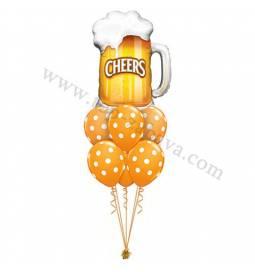 Dekoracija iz balonov Get Well