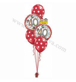 Dekoracija iz balonov za 30 let, roza