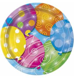 Krožniki 23 cm, Twinke Balloons 8/1