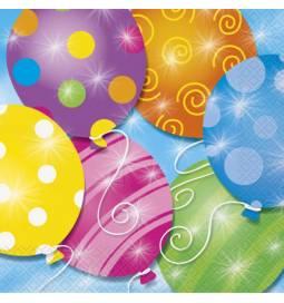 Serviete 33x33 cm, Twinkle Balloons 16/1