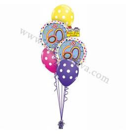 Dekoracija iz balonov za 60 let, bubble