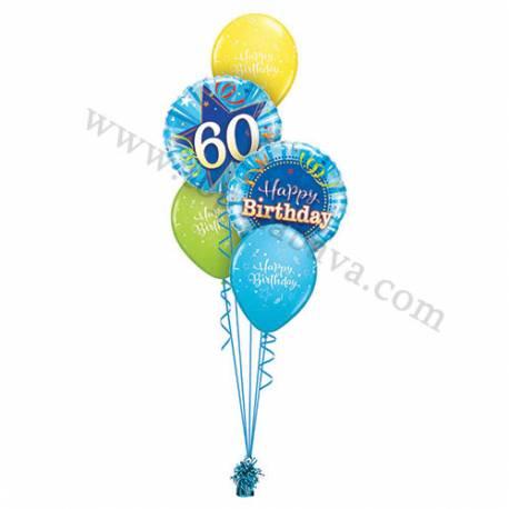 Dekoracija iz balonov za 60 let, Rachel Ellen